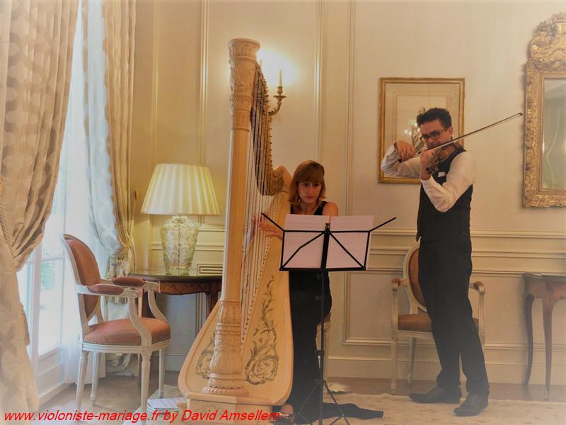 Violoniste en duo avec harpiste pour votre mariage